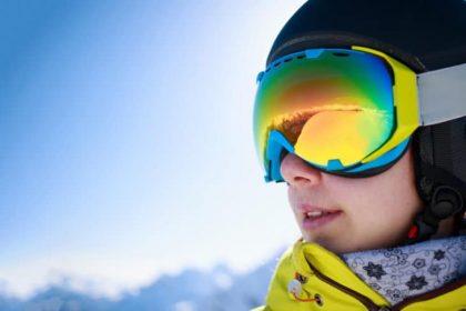 Het kleine skibrillen ABC