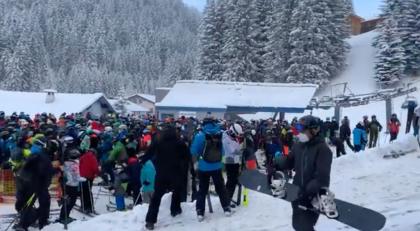Drukte in Oostenrijkse skigebieden