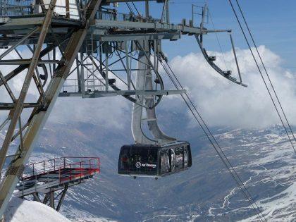Cime Caron in Val Thorens rest van het seizoen gesloten door ijzel